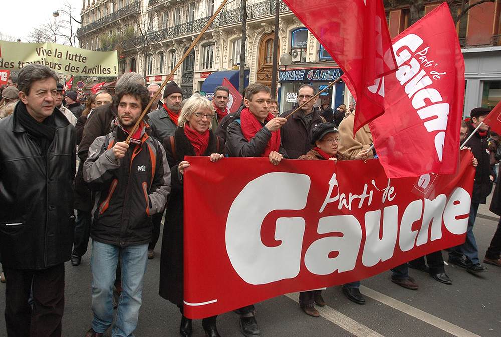Manifestation du Parti de Gauche, le 21 février 2009 à Paris (Michel Soudais)