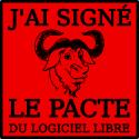 J'ai signé le Pacte du Logiciel Libre